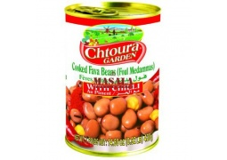 Bób Konserwowy z Chilli Foul Medammas (Cooked Fava Beans with Chilli) 400g Garden Chtoura